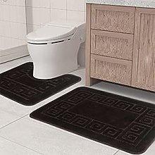 Pauwer Bath Mats Sets 2 Pieces Non Slip Pedeatal