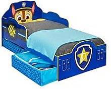 Paw Patrol Chase Toddler Bed with storage by