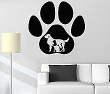 Paw Print Wall Decal Animal Dog cat pet Shop