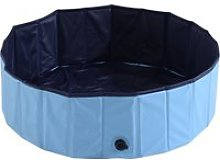 Pawhut Φ100x30H cm Pet Swimming Pool-Blue