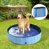 Pawhut Φ140 x 30H cm Pet Swimming Pool-Blue