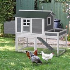PawHut 160cm Wooden Backyard Chicken Coop With