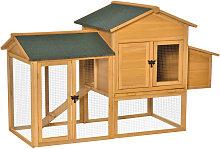 PawHut 168cm Deluxe Chicken Coop Small Animal Hen