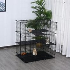 Pawhut 3 Level DIY Pet Playpen Metal Small Animal