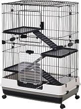 PawHut 4-Level Small Animal Pet Cage w/ Platform