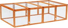 PawHut 6ft Outdoor Wooden Rabbit Hutch Cage with