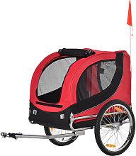 PawHut Dog Carrier Jogger Kit Bike Trailer with