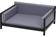 PawHut Elevated Deluxe Metal Frame PU Pet Sofa Bed