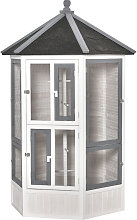 PawHut Large Wooden Bird Cage Aviary House for