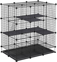PawHut Multi-Way Steel Exanding Pet Cage Home