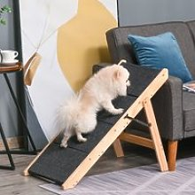PawHut Pet Stairs & Ramp for Animals, Carpeted