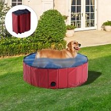 PawHut Pet Swimming Pool, Foldable, 80 cm
