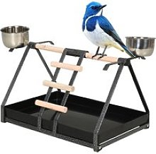 PawHut Portable Bird PlayStand Training Playground