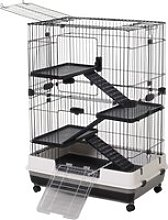 PawHut Small Animal Cage Hutch Pet Play House with