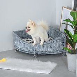 PawHut Wicker Dog Corner Basket Pet Bed Sofa Couch