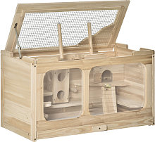 PawHut Wooden Hamster Cage Rodent Small Animal Kit
