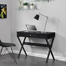 Paxton Wooden Laptop Desk In Black