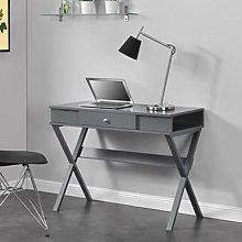 Paxton Wooden Laptop Desk In Grey