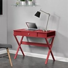 Paxton Wooden Laptop Desk In Red