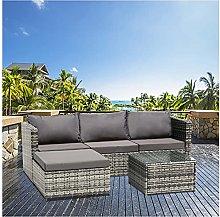 PAYRFV 3 Seater Outdoor Garden Rattan Furniture
