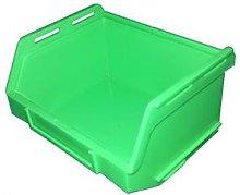 PB15 Plastic Storage Box/Parts Bin - Green - Pack