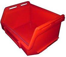 PB15 Plastic Storage Box/Parts Bin - Red - Pack of