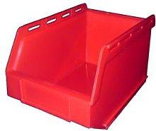 PB17 Plastic Storage Box/Parts Bin - Red Pack of 10