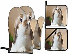 PbbrTK Oven Mitts and Pot Holders Sets of 4,Cute