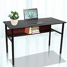 PC Computer Desk, Simple Modern Black PC Computer