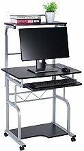 PCDeskBlack, Wooden Computer Desk PC Laptop on