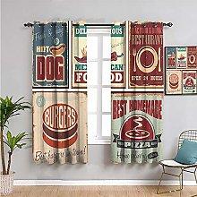 Pcglvie 1950s decor Outdoor curtain, Curtains 63