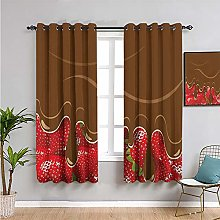 Pcglvie kitchen art Blackout Curtain Panels
