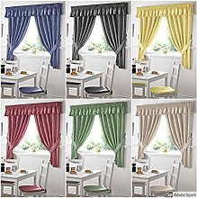 PCJ SUPPLIES Gingham Kitchen Curtains Red 46 x 48,