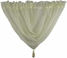 PCJ SUPPLIES IVORY VOILE SWAG TASSELED CURTAIN