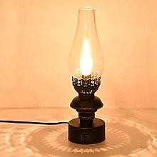 PDDUU Retro Kerosene Table Lamp Edison E27 / E26