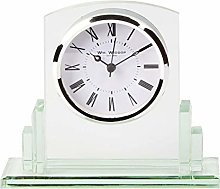 PDDW Square Glass Mantel Table Clock Roman