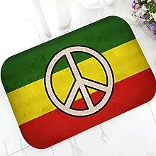 Peace Sign Welcome Doormat Rubber Door Mat Rug Non