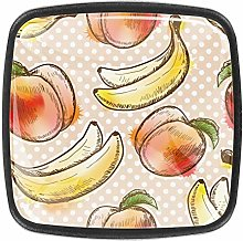 Peach and Banana Kitchen Cabinet Knobs Drawer