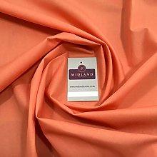 Peach Coral Plain Polycotton Fabric - Dress Craft