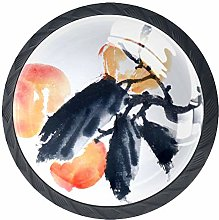 Peach Ink Painting Solid Kitchen Cabinet Knobs