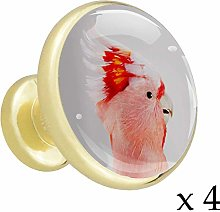 Peacock (3) Alloy Cabinet Knobs Gold Metal