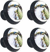 Peacock Beautiful Chinese Painting Feather 4 Packs