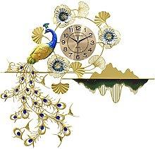 Peacock Clock Wall, Wall Clock for Living Room