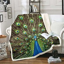 Peacock Comforter Chic Luxury 3D Bird Print Cover