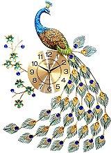 Peacock Wall Clock for Living Room Decor, Wall