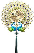 Peacock Wall Clock for Living Room,European Style
