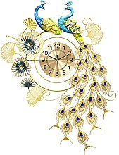 Peacock Wall Clock Large,Wall Clock for Living