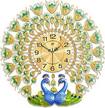 Peacock Wall Clock,Large Wall Clocks for Living