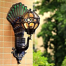 Peacock Wall lamp Creative Indoor and Outdoor
