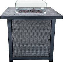 Peaktop HF25601BA UK Gas Fire Pit With Cover